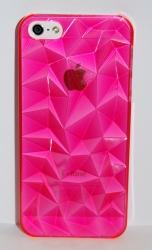 Чехол 3D для iPhone 5 малиновый