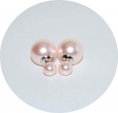Серьги Mise En Dior розовые жемчужные 925