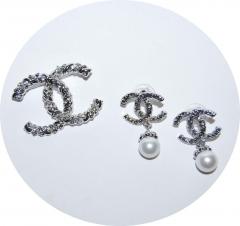 Комплект брошь и серьги Chanel