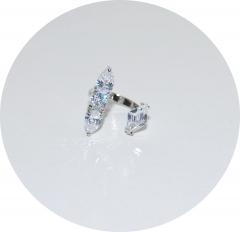 Кольцо на фалангу из камней