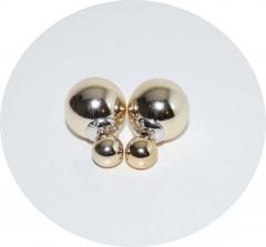 Серьги Dior зеркальные золотые 925