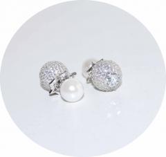 Серьги в стиле KoJewelry из камней серебряные