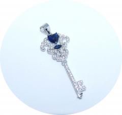 Ключик с синим камнем