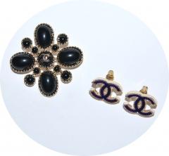 Комплект в стиле Chanel черный