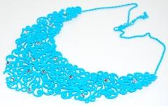 Ожерелье голубое