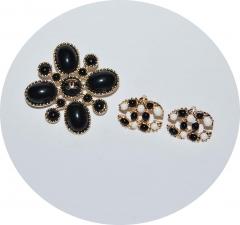 Комплект в стиле Шанель черный