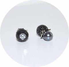 Серьги в стиле KoJewelry из камней черные