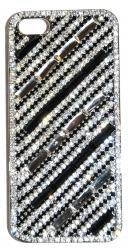 Чехол для iPhone 5S черный со стразами