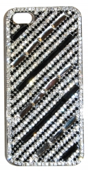 Чехол для iPhone 5 черный со стразами