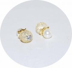 Серьги в стиле KoJewelry из камней золотые