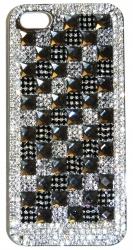 Чехол для iPhone 4 со стразами черный