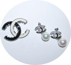Комплект Chanel черно белый