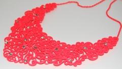 Ожерелье кислотное оранжевое