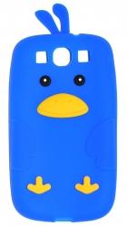 Чехол цыпленок для Samsung Galaxy S3 синий