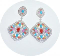 Серьги Boucheron цветные