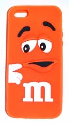 Чехол для iPhone 5S m&m оранжевый