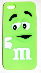 Чехол для iPhone 5S m&m салатовый