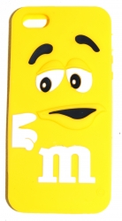 Чехол для iPhone 5 m&m желтый