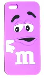 Чехол для iPhone 5 m&m сиреневый