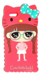 Чехол для iPhone 5 Китти малиновый