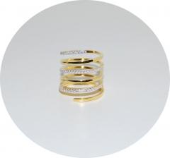 Позолоченное кольцо Пружинка