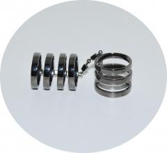 Кольца в стиле Репоси черное