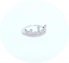 Серебряное колечко Корона