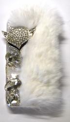 Чехол меховой для iPhone 5S белый