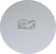 Серебряное кольцо Крест