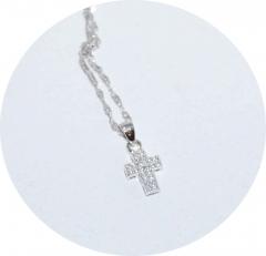 Кулончик серебряный Крестик