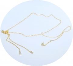 Кулон с сережкой APM Monaco золотой
