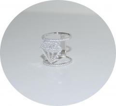 Серебряное кольцо Кристалл