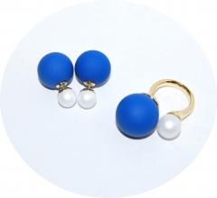 Комплект в стиле Dior синий и белый