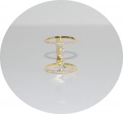 Позолоченное кольцо Зигзаг