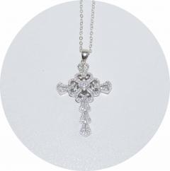 Подвеска Крест серебро 925