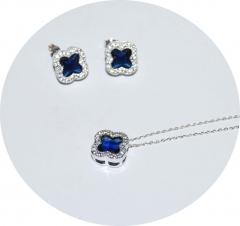 Комплект в стиле Van Cleef синий