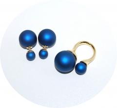 Комплект в стиле Dior синий перламутр