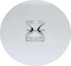 Колечко двойное серебряное