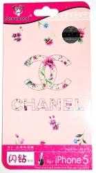 Защитная пленка Chanel для iPhone 5S розовая