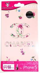 Защитная пленка Chanel для iPhone 5 розовая