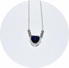 Подвеска Сердечко серебро 925