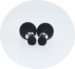 Серьги Mise En Dior черные матовые 925