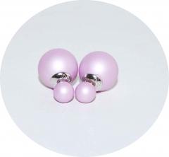 Серьги Dior сиреневые матовые 925