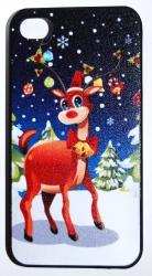 Чехол новогодний олень для iPhone 4