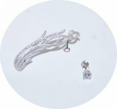 Кафф серебряный Волна