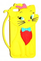 Чехол Котенок для iPhone 5 желтый