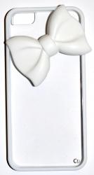 Чехол Бантик для iPhone 5 белый