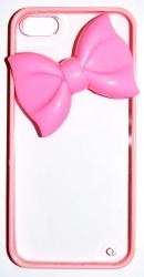 Чехол Бантик для iPhone 5S розовый