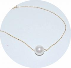 Кулон Белая жемчужина серебро 925 с позолотой