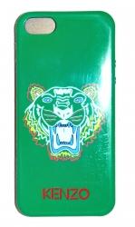 Чехол силиконовый Kenzo для iPhone 5S Тигр зеленый